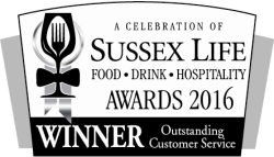 A Celebration of Sussex Life Awards 2016 Winner - Outstanding Customer Service