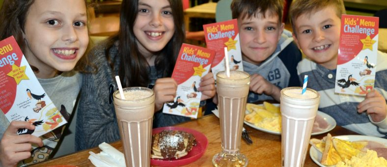 Children enjoying Billy's Kids' Menu