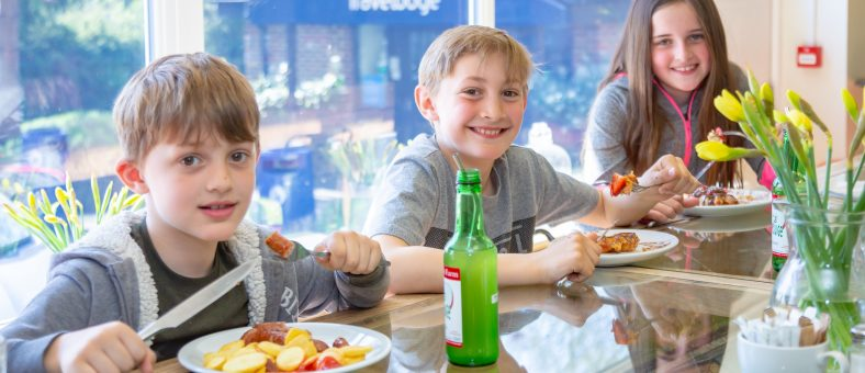 Children tuck into dishes from Billy's Kids Menu
